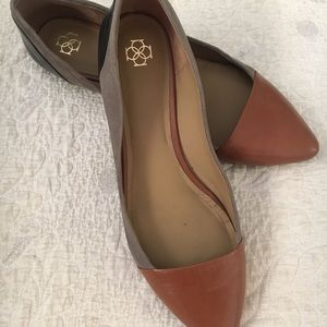 Ann Taylor multi colored leather and suede flat.